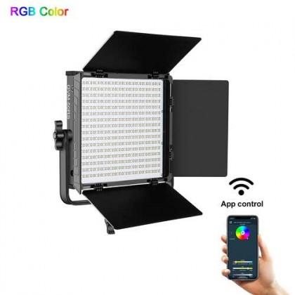 GVM 50RS RGB LED Video Light Full Color CRI TLCI 95+ Bi Color 3200K~5600K Adjustable for Studio Photography with Barn-Door & Bag