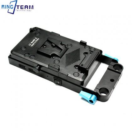 RingTeam Multifunctional V-Lock D-tap Battery Plate Adapter V Mount Plate for Broadcast SLR HD Camera