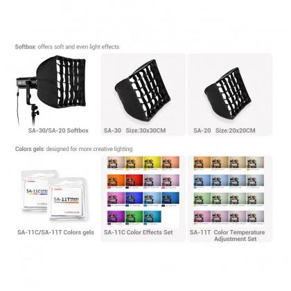 Godox S30 30W 3 Light Kit LED Studio Focusing Led Light Spotlight With BarnDoor For Photo Video Photography Lighting
