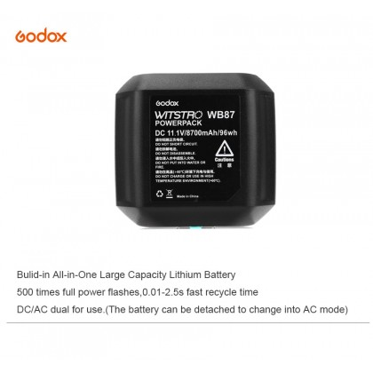GODOX WB87 / WB-87 RECHARGEABLE LITHIUM-ION BATTERY FOR AD600 Series