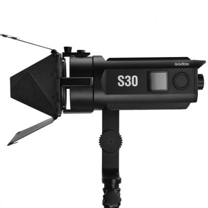 Godox S30 30W LED Studio Light Focusing Led Light Spotlight With Barn Door For Photo Video Youtube Photography Lighting