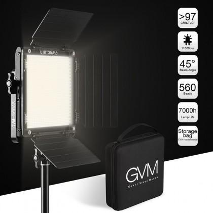 GVM 560AS2L BI-COLOR 2300-6800K LED 2 LIGHT KIT CRI97 FULL ALUMINUM BODY WITH RE