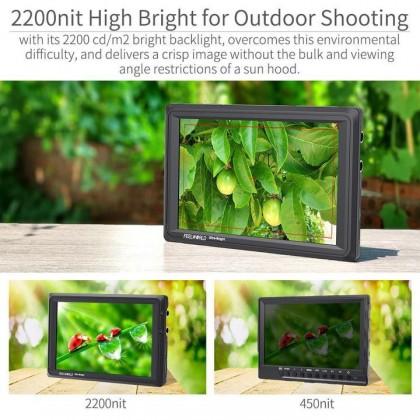 FEELWORLD FW279S 7 INCH ULTRA BRIGHT 2200NIT DAYLIGHT VIEWABLE DSLR CAMERA FIELD MONITOR SDI 4K HDMI