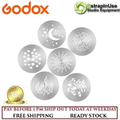 GODOX GOBO SET SA-09 KIT FOR GODOX S30 FOCUSING LED LIGHT