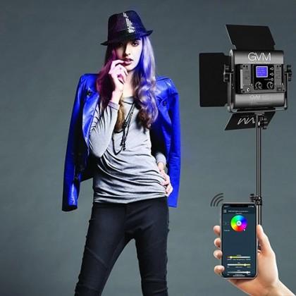 GVM 800D-RGB LED STUDIO VIDEO LIGHT WITH SMART BLUETOOTH MOBILE APP CONTROL