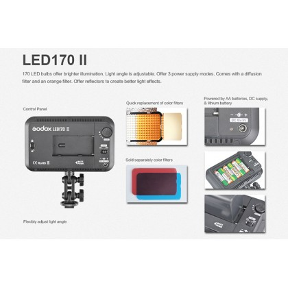 Godox LED170CII Daylight-Balanced 10W On-Camera LED Light