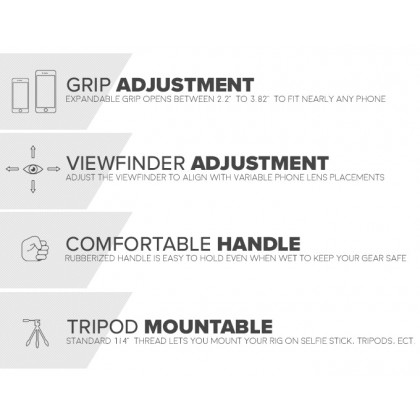 SMARTCINE STEREO VIDEO KIT VLOG FOR SMARTPHONE WITH VIDEO LIGHT, MICROPHONE & LENS ALL IN ONE