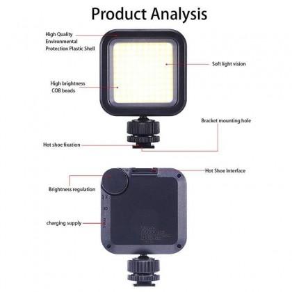 Ulanzi VL100 Pocket On Camera LED Video Light COB Built-in Lithium Battery Adjustable Photographic Lighting