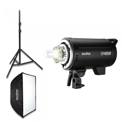 Godox DP400III 400W 2 Light Kit 2.4G Built-in X System Studio Strobe Flash Light for Photography Lighting Flashlight With Godox X2T Transmitter