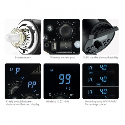 GODOX DP600III 600W SINGLE LIGHT STUDIO STROBE KIT