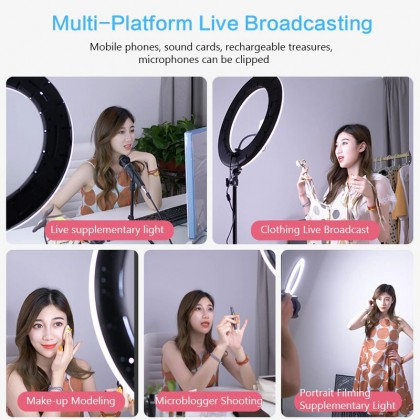 Studio LED Ring Light Large RL-18 without stand for Make Up Photo Video Tiktok With Adjustable Color Temp & Wireless Remote Control