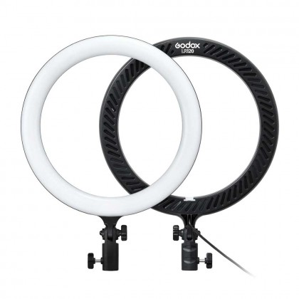 "Godox LR120 12""LED Ring Light Studio Photography Fill-in Light 3000-6000K Phone Holder for Live Streaming Selfie Makeup Portrait"