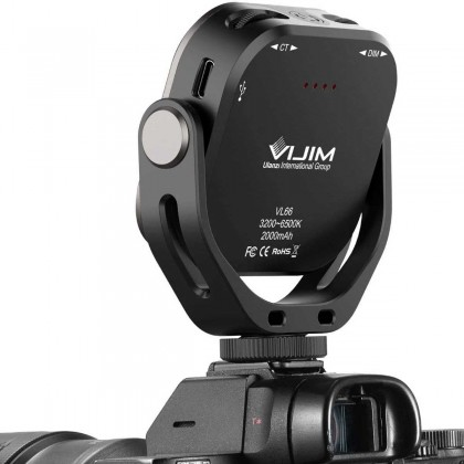 Ulanzi Vijim VL66 Adjustable LED Video Light with 360 Rotation Mount Bracket Rechargable DSLR SLR Mobile Fill Light